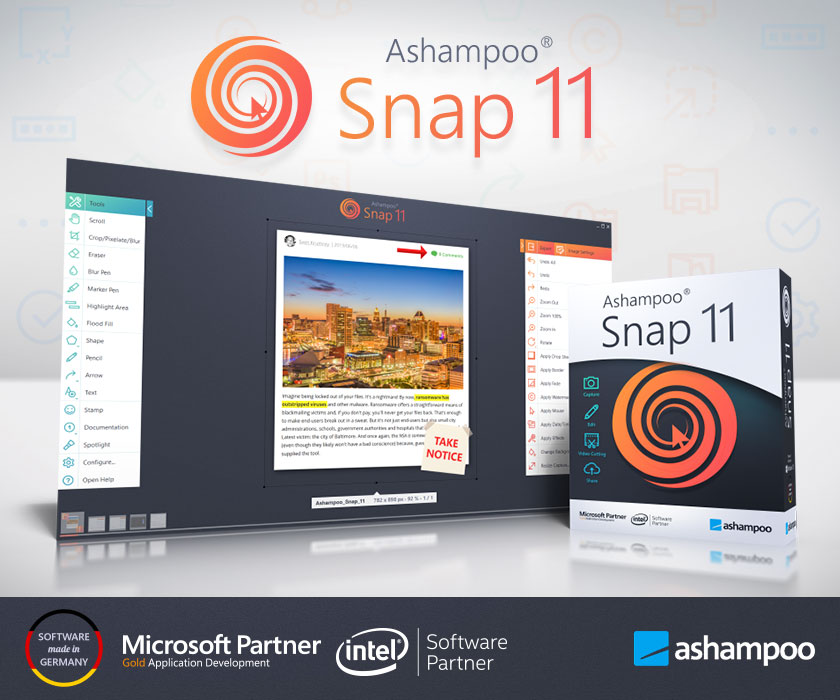 Ashampoo Snap 11, Computer Security Info, Software, Computersecurityinfo.com